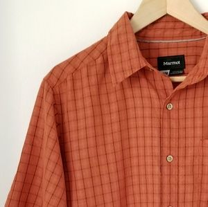 Marmot Men's Checkered Button Down Shirt SZ M